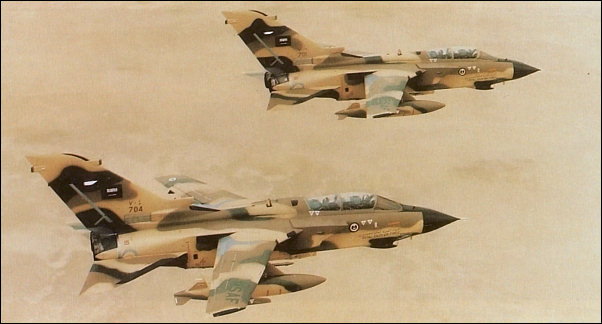 Royal Saudi air force Tornados