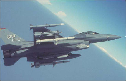F-16 carrying HDAMs
