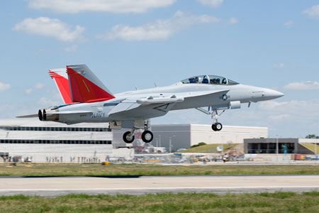 First Flight of EA-18G Growler